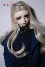Bjd Doll Wig 1/3 8-9 Dal Pullip Sd Blythe Dollfie Blond Long Girl Hair 22-24Cm