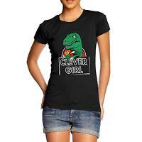 Women's Clever Girl Dinosaur Funny T-Shirt