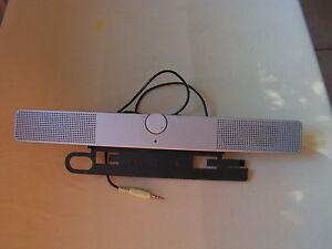 HP EE418AA - EE418-60001 - LCD COMPUTER SPEAKER BAR AUDIO SOUND SPEAKER