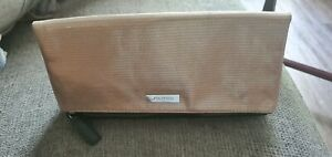 New SHISEIDO Makeup Toiletry Lined Wash Bag Black/gold New Clutch Bag