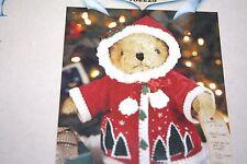 "New Doll Clothes Lot Bear Northwoods Noelle Santa Coat 9"" Long Shoes -Gg-"