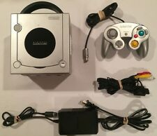 Nintendo GameCube Silver Platinum Console System Bundle Lot Tested!