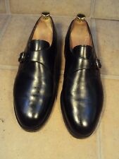 "LOAKE ""CANTERBURY"" BLACK MONK SHOES 9E"