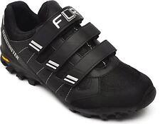 FLR Bushmaster MTB/Trail Shoe in Black/Silver With Fastening - Size 46