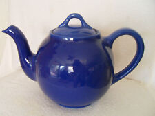 "WELL CRAFTED VINTAGE TEA POT  USA - DEEP BLUE IN COLOR 7-1/2"" TALL"