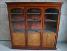 Superb Victorian Mahogany half glazed concertina door adjustable bookcase