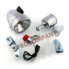 Motorized Bike Friction generator Head/Tail Light Kit 12V 6W for Mountain Bikes