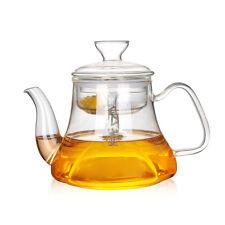 Steam TEA POT Boiling Water Kettle Brew Tea Maker Glass Teapot w/ Infuser & Lid