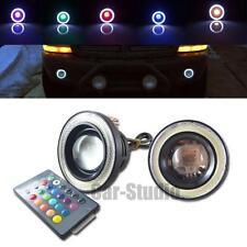 2pcs 3.5'' High Power RGB Color LED Fog Light w/White Halo Angel Eye Rings Car