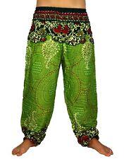 Sarouel Femme Pantalon Ethnique Aladin Harem Pant Aladdin yoga vert