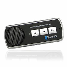 AURICOLARE Bluetooth Auto Vivavoce Altoparlante KIT PER SAMSUNG IPHONE NOKIA LG