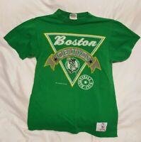 Vintage Nutmeg Mills Boston Celtics 80s T-shirt Green Size L 1988 NBA