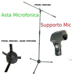 PROEL RSM180 ASTA MICROFONO TREPPIEDE + SUPPORTO PER MICROFONO A BECCUCCIO