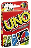 2019 version Mattel UNO Card Game With WILD CARDS Latest Version Family Great