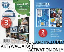 "Activation Carte polonais TV ""telewizjia NA Karte NC + HD Smart + Polsat, Świat HD"""