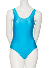 Ladies Girls Dance Sleeveless Shiny Lycra Leotard All Colours & Sizes KDC026