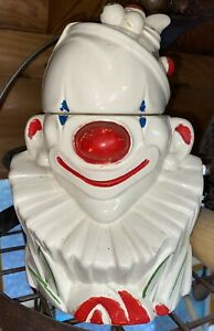 Vintage McCoy Clown Cookie Jar 1940s