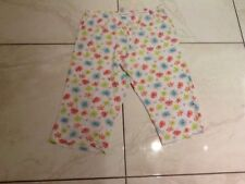 cropped pyjama bottoms size 12-14, white with lime green and orange