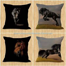 set of 4 horse pillow cushion covers equine patio furniture cushions covers