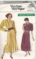 7607 Vintage Vogue Sewing Pattern Misses Wrap Dress Raglan Sleeves Very Easy OOP