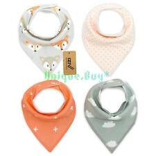 iZiv 4 PACK Baby Bandana Drool Bibs with Adjustable Snaps  Waterproof TPU Lining