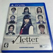 USED PS VITA Root letter Last Answer from Japan Playstation Vita game soft PSV