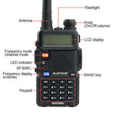 Two Way Radio Scanner Handheld Police Fire Transceiver Portable F-Antenna HAM