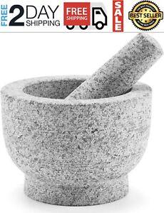Mortero de Piedra Molcajete para Triturar Unpolished Granite Mortar Stone Bowl..