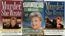 MURDER SHE WROTE ~ Lot 3 ~ Knock 'Em Dead You Bet Your Life Rum & Razors