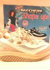 Skechers Shape Ups Jump Start 11803 White/Silver/Light Blue Women's Size 8