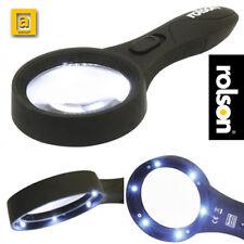 Rolson® Large Magnifying glass with Light Illuminated 6 LED Lamp reading books