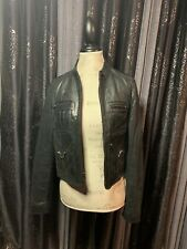 BCBG Maxazria Vintage Leather Jacket Real Leather