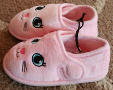 Girls Toddler Size 5/6 Pink Kitty Cat Bunny Rabbit Slippers House Shoes New