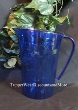 Tupperware New Serving Ice Prisms Dark Blue Acrylic 2 Quart Beverage Pitcher