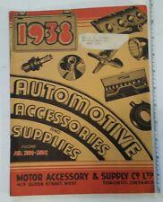 "RARE CANADIAN (TORONTO) ""1938 AUTOMOTIVE ACCESSORIES & SUPPLIES"" CATALOGUE"