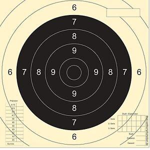 50 Schießscheiben Sportpistole Präzision  PORTOFREI