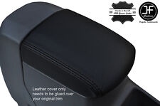 BLACK STITCHING ARMREST LID LEATHER COVER FITS TOYOTA RAV 4 2001-2005