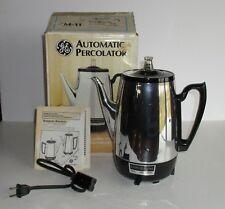 Vintage GE General Electric Automatic Percolator CM-11 Electric NOS w/ Box USA