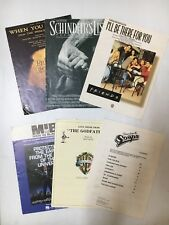 T.V/ MOVIE SHEET MUSIC LOT OF 6 - THE GODFATHER, FRIENDS, SCHINDLERS LIST ETC: