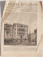 IL PICCOLO ILLUSTRATO 1888 PALAZZO FOSCARI VENEZIA