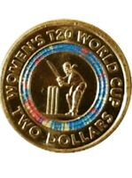 Women's Cricket $2 Coin & Display Folder T20 World Cup Coloured Coin UNC NEW