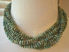 SILPADA - N1535 6-Strand Green Howlite Bronze-Colored Seed Beads Necklace .