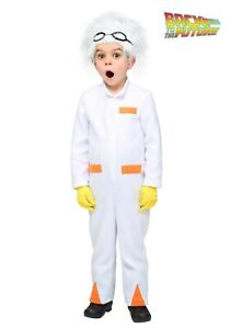 Toddler Back to the Future Doc Brown Scientist Costume Size 12 months (Used)