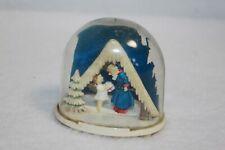 Vintage Plastic Snow Globe Angel & St Peter Germany