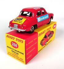 1:43 DeAgostini DIECAST MODEL 268 Renault Dauphine MIni cab Kenwood DINKY TOYS