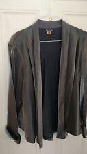 Ladies XL (16 -20) Elegant Black Satin Metallic Jacket by Bay Studio evening