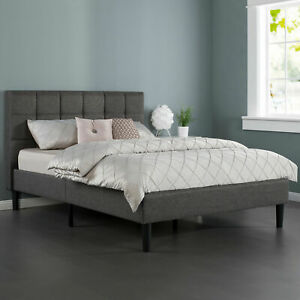 Zinus Platform Fabric Bed Frame QUEEN DOUBLE KING SINGLE Mattress Base Square