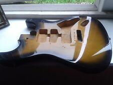 Stratocaster cuerpo USADO Negro y Amarillo ráfaga de sol