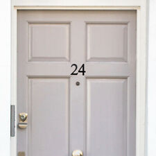 Eco House Number - Black - Recycled From Coffee Cups - Numerals 0-9
