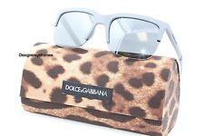 DOLCE & GABBANA DG 6097 2651/6G Gray Rubber Mirrored Sunglasses NWC AUTH